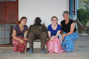 From left to right: Laura, Papa Zebulona, Caroline and Annemarie